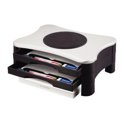 Support écran ou imprimante 2 tiroirs