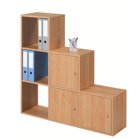 module 6 cases escalier maxicubes color comparer les prix de module 6 cases escalier maxicubes. Black Bedroom Furniture Sets. Home Design Ideas