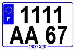 PLAQUE D IMMATRICULATION SCOOTER 14 X 12 CM PVC Comparer les prix de ... 691d40355f