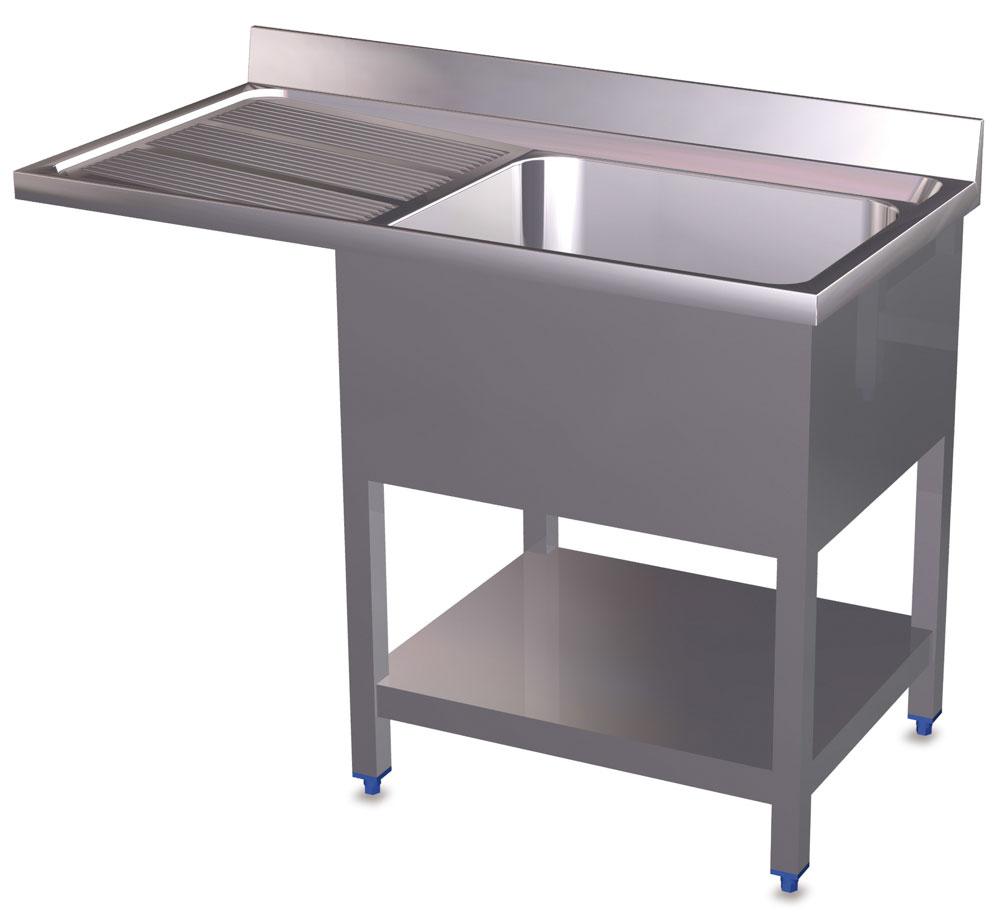 plonge inox pour lave vaisselle avec 1 bac et gouttoir gauche comparer les prix de plonge. Black Bedroom Furniture Sets. Home Design Ideas