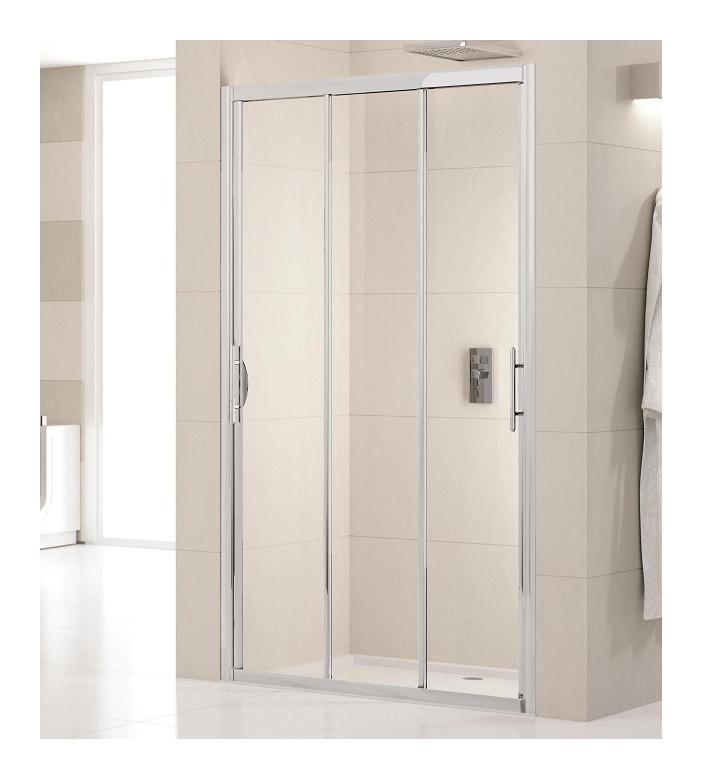 Porte de douche 3 panneaux coulissants lunes p 70cm for Porte 5 panneaux
