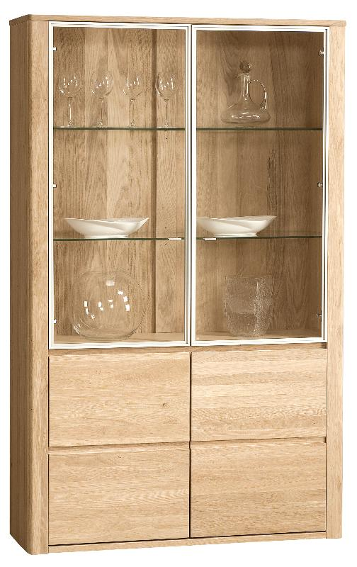 Vaisselier 4 portes xxl en chêne massif collection nebraska