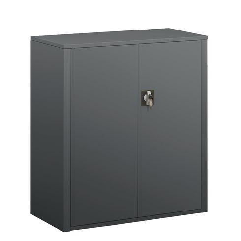 armoire portes battantes union h 100 cm corps anthracite comparer les prix de armoire portes. Black Bedroom Furniture Sets. Home Design Ideas