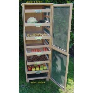 Légumier fruitier, garde manger 150cm - 240 m -6 tiroirs