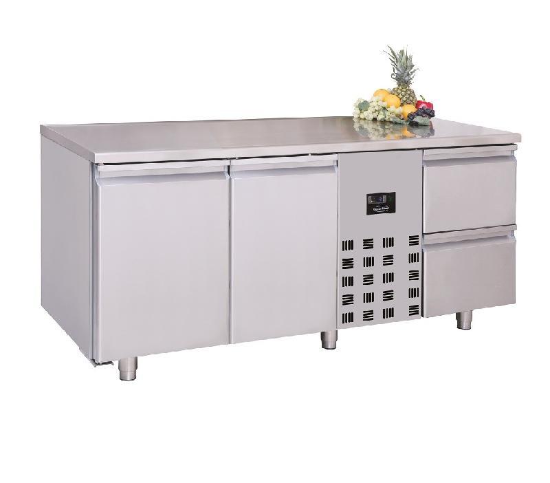 Table réfrigérée monoblock avec porte et tiroirs 474ltr - combisteel