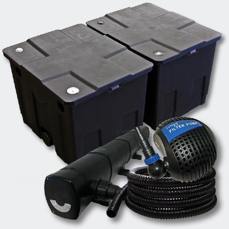 Kit de filtration de bassin bio filtre 60000l stérilisateur uvc 72w 4216509