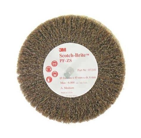Brosse en nylon abrasif orange 100 mm ventail/TI