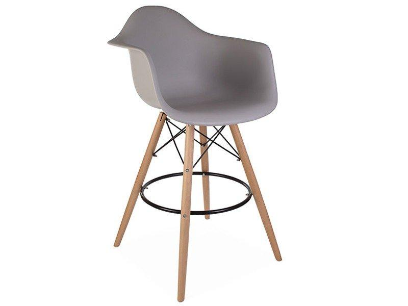 CHAISE DE BAR DAB - GRIS SOURIS