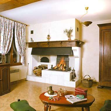 cheminee rustique morvandelle angle ref 109. Black Bedroom Furniture Sets. Home Design Ideas
