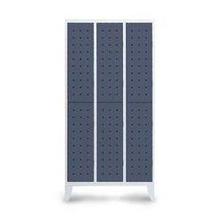 vestiaire 6 cases penderie design 3 colonnes largeur 300 mm sur pieds comparer les prix de. Black Bedroom Furniture Sets. Home Design Ideas