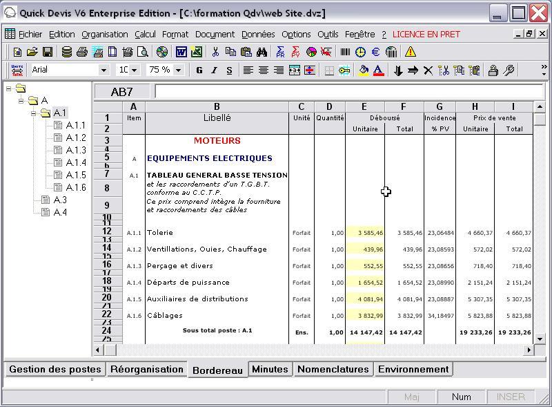 Bordereaux de prix batiment gratuit pdf