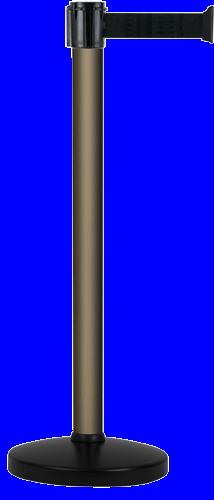 Poteau Alu Bronze à sangle Noir 3m x 50mm sur socle portable - 2010689