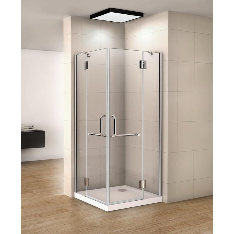 90x80x190cm cabine de douche charni re porte de douche paroi de douche acc s d 39 angle verre. Black Bedroom Furniture Sets. Home Design Ideas