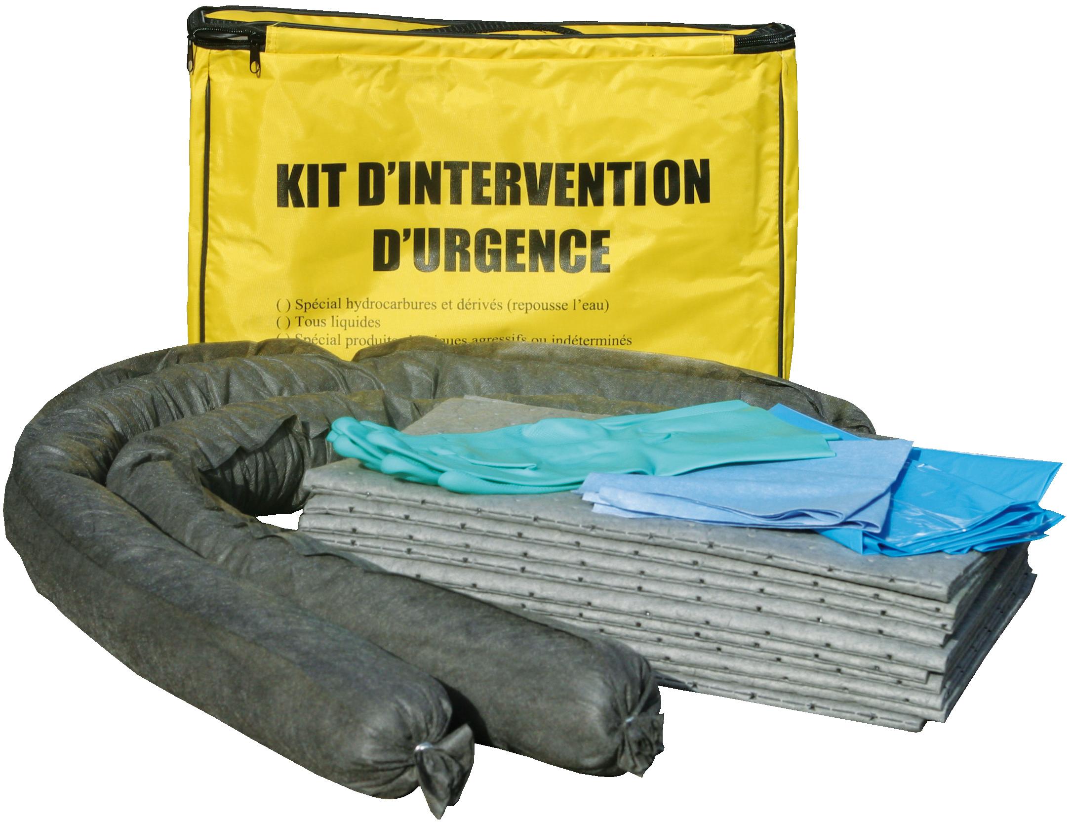 kit absorbant pour tous liquides volume 45 l. Black Bedroom Furniture Sets. Home Design Ideas