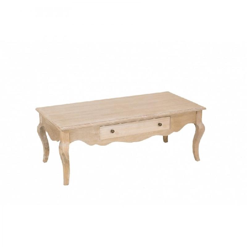Table Basse 120 X 60 Cm 1 Tiroir Romane En Bois De Paulownia Style