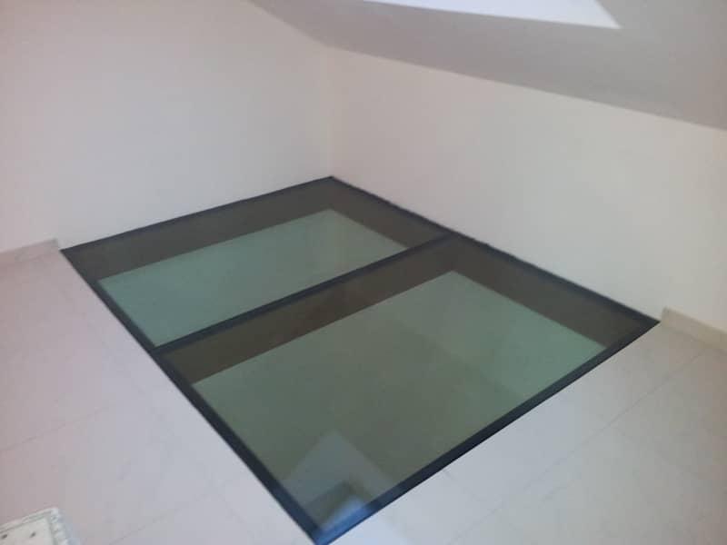 dalle de verre sur structure hetre teinte chene 04. Black Bedroom Furniture Sets. Home Design Ideas