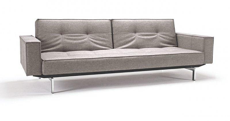 canape design oz gris convertible lit 200 115 cm. Black Bedroom Furniture Sets. Home Design Ideas