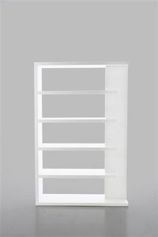etagere bibliotheque laquee blanc brillant simplicia. Black Bedroom Furniture Sets. Home Design Ideas