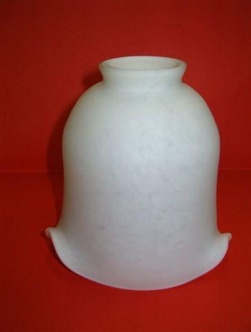 abat jour en pate de verre tulipe pte de verre berger blanc albatre
