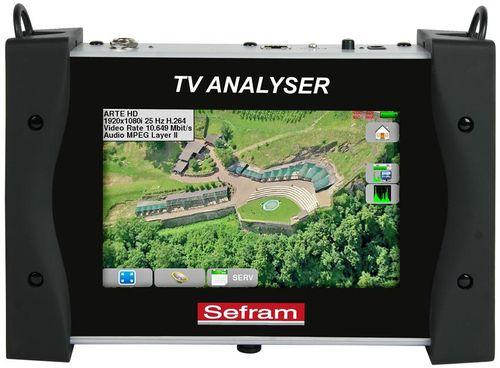MESUREUR DE CHAMPS TV DVB-T/T2, DVB-S/S2, PROGRAMMES SD & HD, ÉCRAN 7 POUCES TACTILE