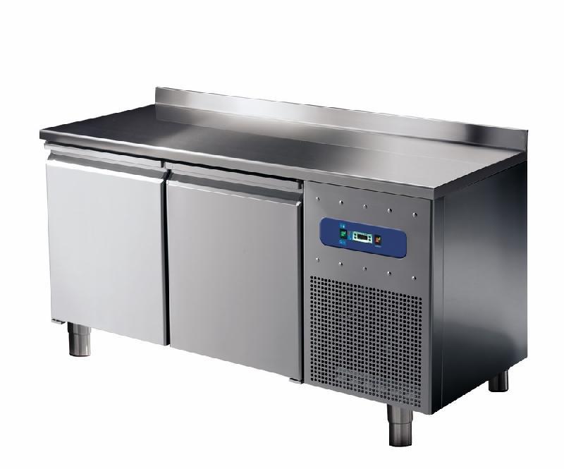 Table congélateur 600 mm avec 2 portes et dosseret, -10°/-20°c - bnb0023/f