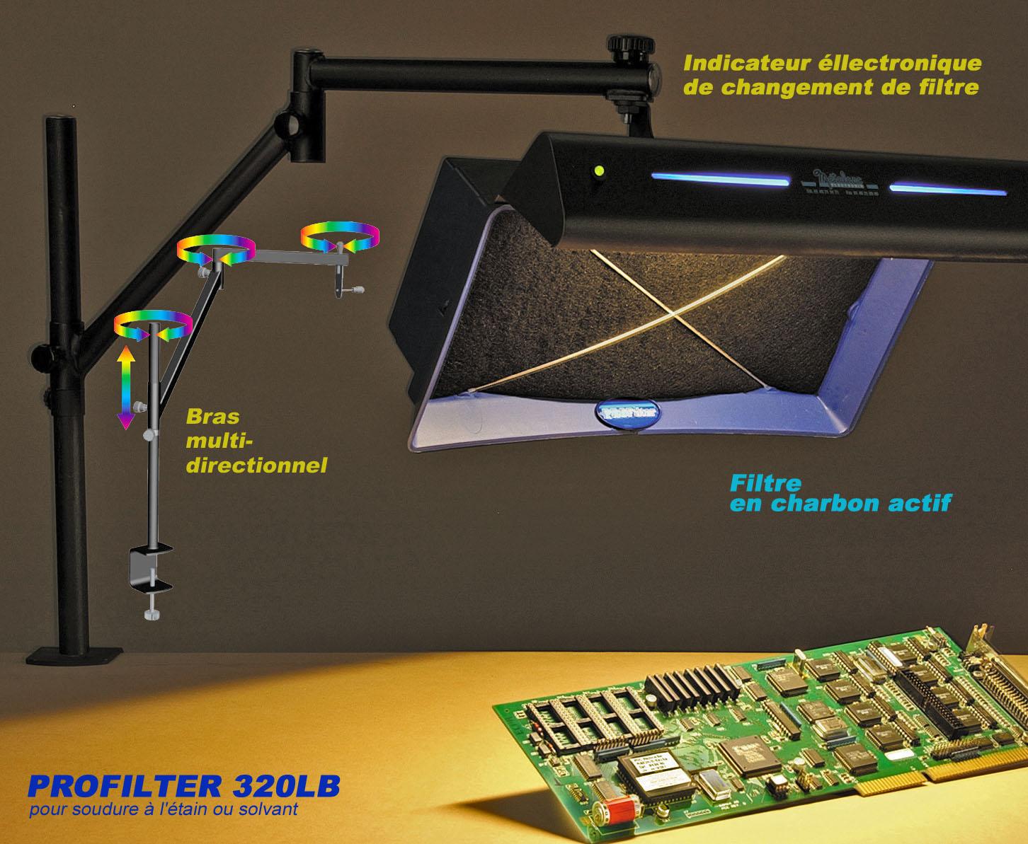 aspirateur de fumee profilter 320lb. Black Bedroom Furniture Sets. Home Design Ideas