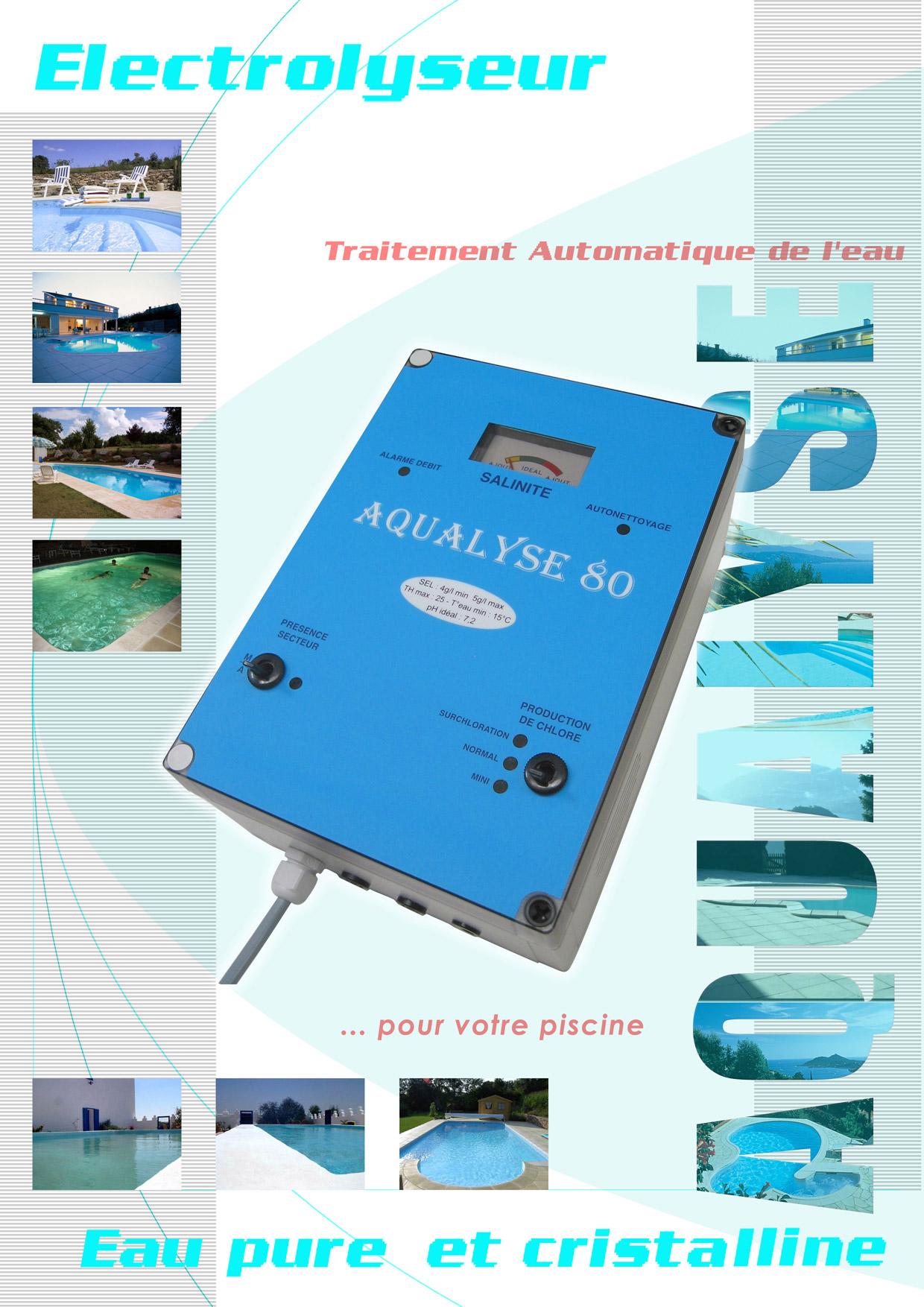 Electrolyseurs aqualyse pour le traitement des eaux de piscines