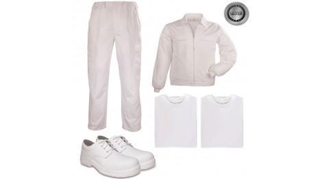 pack tenue complete peintre plaquiste platrier couleurs vetements blanc tailles chaussures. Black Bedroom Furniture Sets. Home Design Ideas