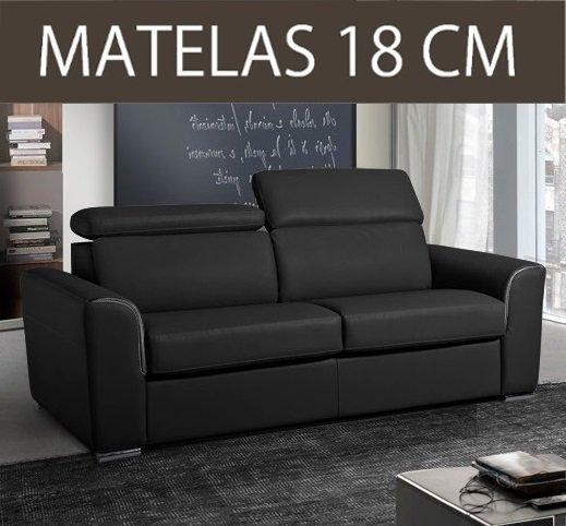 canape convertible systeme rapido imola matelas 18cm. Black Bedroom Furniture Sets. Home Design Ideas
