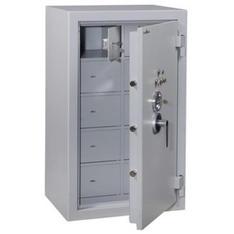 Sp0900g2/40 - hartmann : armoire forte blindée à 40 compartiments - serrure à clé et à tubes compteurs - 840 l