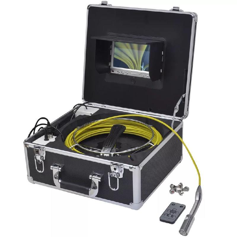 Vidaxl caméra endoscopique pour canalisation 20 m