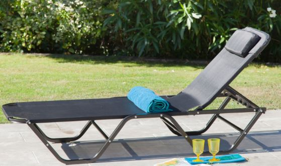 chaise longue de jardin lit de jardin empilable - Chaises Longues Jardin