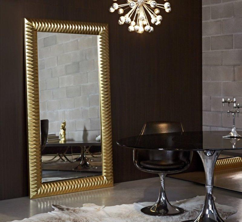 Hall grand miroir mural finition or comparer les prix de - Grand miroir mural sur mesure ...