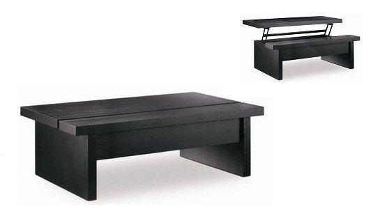 Table basse modulable brunch wenge plateau relevable - Table basse plateau relevable fly ...