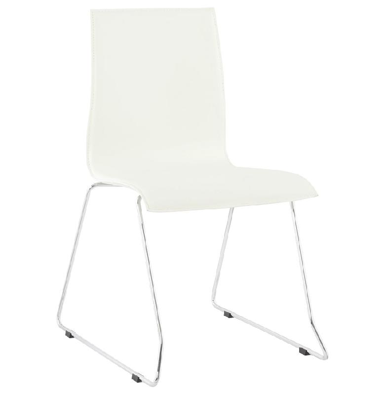 Chaise design blanche 39 kyra 39 en mati re synth tique for Chaise blanche solde