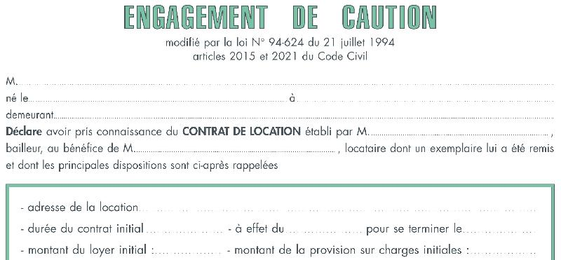 Caution Solidaire Location Meublee Nmasig Info