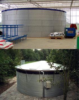 Cuve pour recuperation d 39 39 eau pluviale a enterrer luxeco jardin - Cuve de recuperation d eau ...