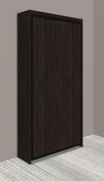 armoire lit escamotable cronos chene anthracite couchage 90 22 200 cm. Black Bedroom Furniture Sets. Home Design Ideas