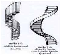 escalier a vis metallique. Black Bedroom Furniture Sets. Home Design Ideas