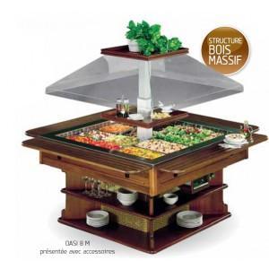 buffet salad bar r frig r e en bois massif grand mod le. Black Bedroom Furniture Sets. Home Design Ideas