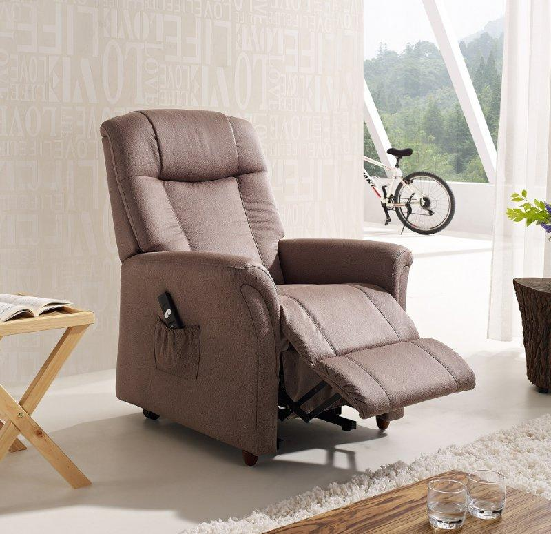 freedom fauteuil relax et releveur electrique mono moteur microfibre boa marron cendre. Black Bedroom Furniture Sets. Home Design Ideas