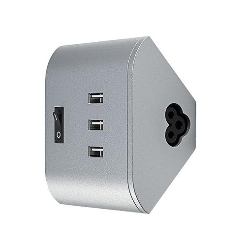 OSRAM CHARGEUR USB POUR RÉGLETTE LED SOUS-MEUBLE LINEAR CORNER (3 X 5V) 1A 230V GRIS - OSRAM