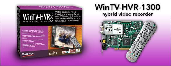 HAUPPAUGE WINTV-HVR-1300 TV TUNER TREIBER WINDOWS 10