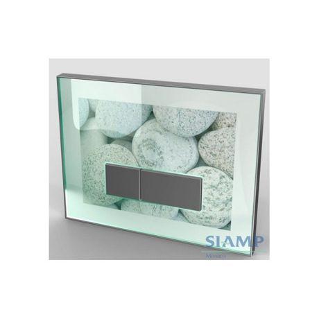 plaque de d clenchement en verre 39 reflet perso 90. Black Bedroom Furniture Sets. Home Design Ideas