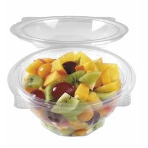 Saladier avec couvercle contenance 0 5 l petp transparent - Saladier plastique avec couvercle ...