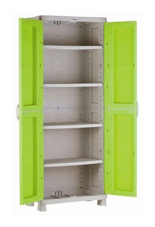 Armoires hautes d 39 ateliers comparez les prix pour for Armoire resine 3 portes