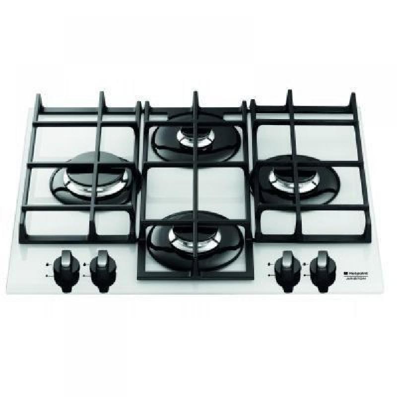 hotpoint ariston table cuisson gaz verre tq640 wh kgh ha. Black Bedroom Furniture Sets. Home Design Ideas