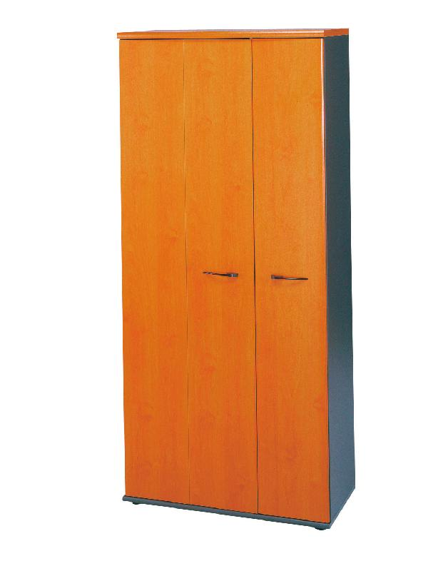 armoire 3 portes jazz largeur 80 cm coloris aulne. Black Bedroom Furniture Sets. Home Design Ideas