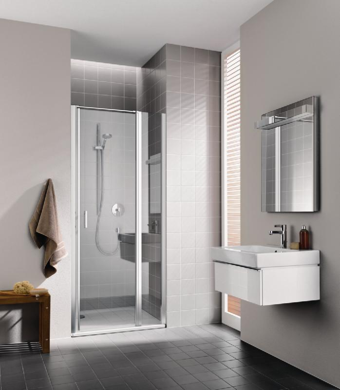 porte de douche pivotante avec element fixe cada xs 1gl 10020 vpk pivots a gauche argent poli. Black Bedroom Furniture Sets. Home Design Ideas
