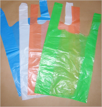 sac plastique bretelle pehd blanc vert orange et bleu. Black Bedroom Furniture Sets. Home Design Ideas